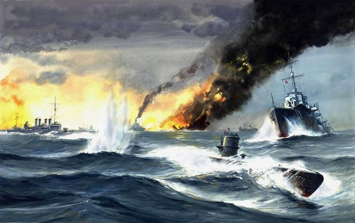 Convoy Battle - U-boats attack