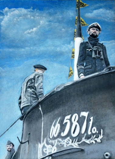 SubArt - Gunther Prien and the Crew of U47